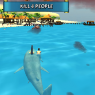Онлайн игра Shark Simulator Beach Killer