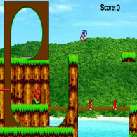 Онлайн игра Sonic the hedgehog Angel Island